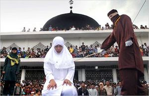 Caning of a muslim woman